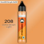 Заправка Molotow ONE4ALL акриловая 208 светло-оранжевый, (Ochre Brown Light), 30мл