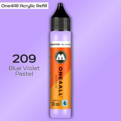 Заправка Molotow ONE4ALL акриловая 209 сине-фиолетовый, (Blue Violet Pastel), 30мл