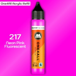 Заправка Molotow ONE4ALL акриловая 217 флюр розовый, (Neon Pink Fluorescent), 30мл