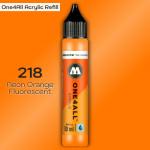 Заправка Molotow ONE4ALL акриловая 218 флюр оранжевый, (Neon Orange Fluorescent), 30мл