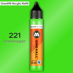 Заправка Molotow ONE4ALL акриловая 221 светло-зеленый, (Grasshopper), 30мл