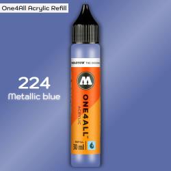Заправка Molotow ONE4ALL акриловая 224 металлик синий, (Metallic blue), 30мл