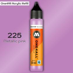 Заправка Molotow ONE4ALL акриловая 225 металлик розовый, (Metallic pink), 30мл