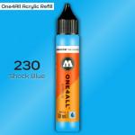 Заправка Molotow ONE4ALL акриловая 230 шоковый синий, (Shock Blue), 30мл