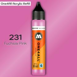 Заправка Molotow ONE4ALL акриловая 231 розовый фуксия, (Fuchsia Pink), 30мл