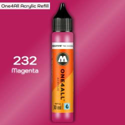Заправка Molotow ONE4ALL акриловая 232 magenta , (Magenta), 30мл