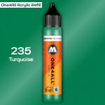 Заправка Molotow ONE4ALL акриловая 235 бирюзовый, (Turquoise), 30мл