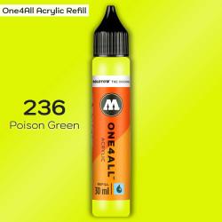 Заправка Molotow ONE4ALL акриловая 236 ядовито-зеленый, (Poison Green), 30мл