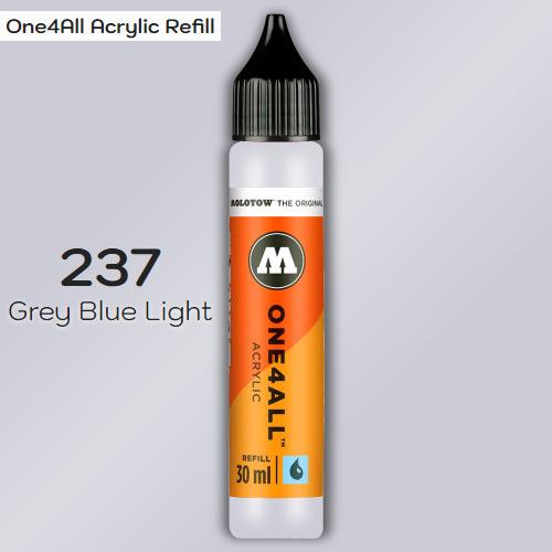 Заправка Molotow ONE4ALL акриловая 237 светло-серый, (Grey Blue Light), 30мл
