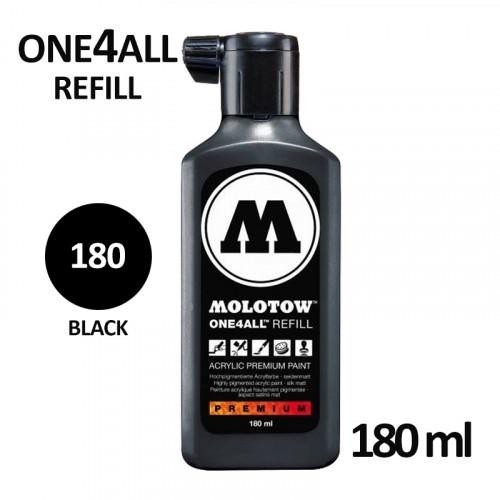 Заправка Molotow ALL4ONE акриловая (180) черная, 180мл