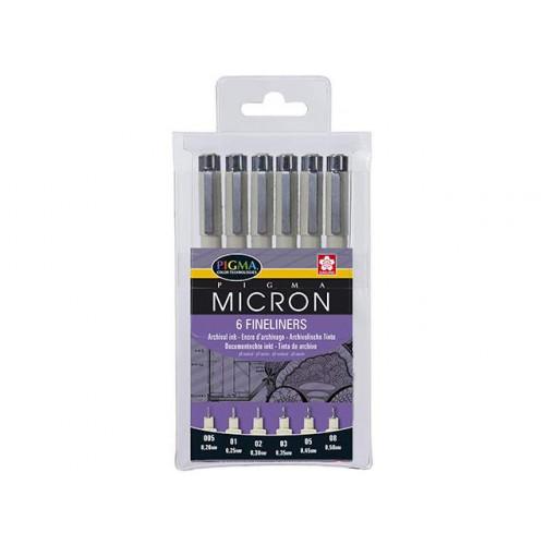 Набор капиллярных ручек Pigma Micron, 6 шт