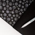 Белая гелевая ручка Малевичъ (пишущий узел 0.5мм)