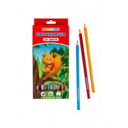 Набор цветных шестигранных карандашей, 24 цвета (2М-4М)