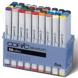 Набор маркеров  COPIC Sketch, 36 шт в пластиковой упаковке