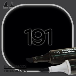 Маркер FINECOLOR Brush 191 Черный