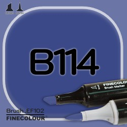 Маркер FINECOLOR Brush B114 Темно-синий