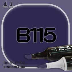 Маркер FINECOLOR Brush B115 Пигментированный фиолетовый двухсторонний