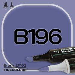 Маркер FINECOLOR Brush B196 Сине-фиолетовый двухсторонний