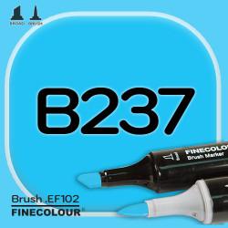 Маркер FINECOLOR Brush B237 Голубой цианин двухсторонний