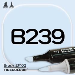 Маркер FINECOLOR Brush B239 Сине-голубой двухсторонний