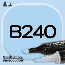 Маркер FINECOLOR Brush B240 Светло-голубой двухсторонний
