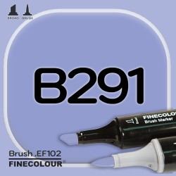 Маркер FINECOLOR Brush B291 Ломонос двухсторонний