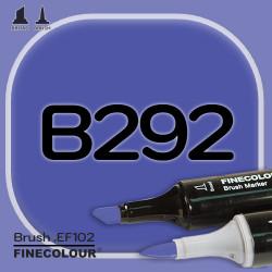 Маркер FINECOLOR Brush B292 Стратосферный синий двухсторонний