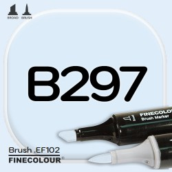 Маркер FINECOLOR Brush B297 Оттенок голубого двухсторонний