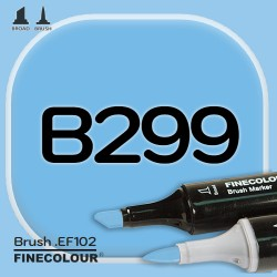 Маркер FINECOLOR Brush B299 Светло-синий