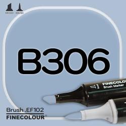 Маркер FINECOLOR Brush B306 Светло-сероватый кобальт двухсторонний
