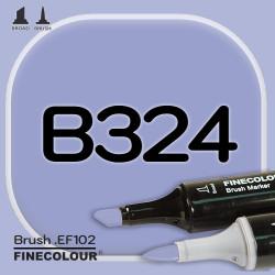 Маркер FINECOLOR Brush B324 Темно-красновато-синий двухсторонний