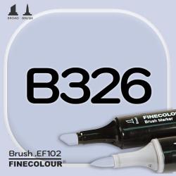 Маркер FINECOLOR Brush B326 Серовато-лавандовый двухсторонний