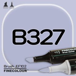 Маркер FINECOLOR Brush B327 Баклажан