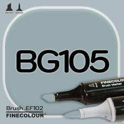 Маркер FINECOLOR Brush BG105 Пыльный зеленый двухсторонний