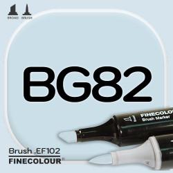 Маркер FINECOLOR Brush BG82 Холодный оттенок океана двухсторонний