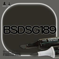 Маркер FINECOLOR Brush BSDSG189 BCDS серый №10 двухсторонний