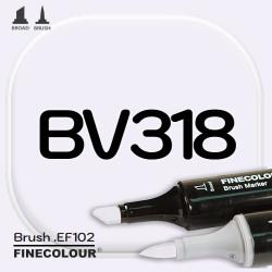 Маркер FINECOLOR Brush BV318 Глициния двухсторонний