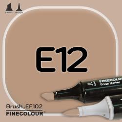 Маркер FINECOLOR Brush E12 Кофе с молоком двухсторонний