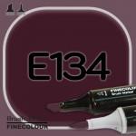 Маркер FINECOLOR Brush E134 Темно фиолетовый двухсторонний