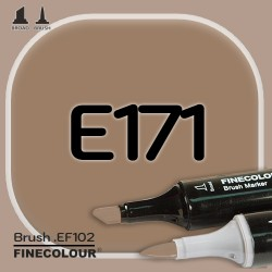 Маркер FINECOLOR Brush E171 Кофейный