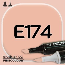 Маркер FINECOLOR Brush E174 Темный загар двухсторонний