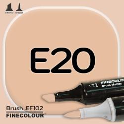 Маркер FINECOLOR Brush E20 Коричнево-желтый двухсторонний
