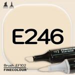 Маркер FINECOLOR Brush E246 Кирпичный бежевый двухсторонний