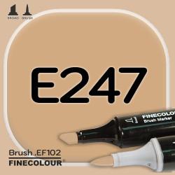 Маркер FINECOLOR Brush E247 Глубокий бежевый двухсторонний