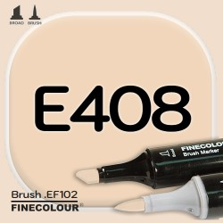 Маркер FINECOLOR Brush E408 Песок двухсторонний