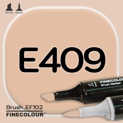 Маркер FINECOLOR Brush E409 Лесной орех двухсторонний