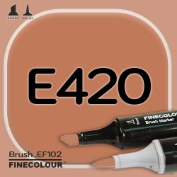 Маркер FINECOLOR Brush E420 Кожа