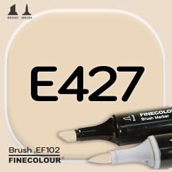 Маркер FINECOLOR Brush E427 Тусклая слоновая кость двухсторонний