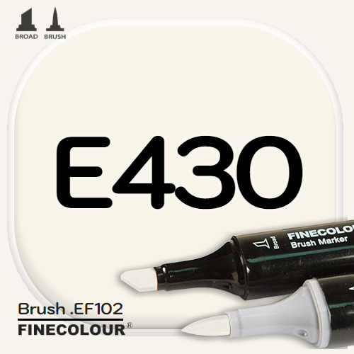 Маркер FINECOLOR Brush E430 Слоновая кость