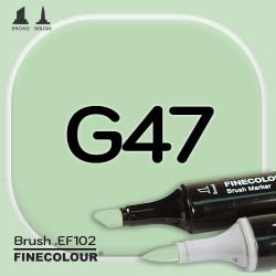 Маркер FINECOLOR Brush G47 Зеленый кобальтовый двухсторонний